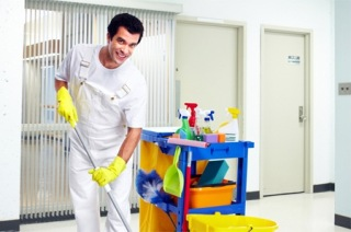 cleaning homes